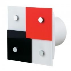 Design-Abluftventilator im erfrischenden Design, mit einstellbarem Nachlauf